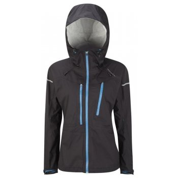 Trail Tempest Waterproof Running Jacket Black/Lapis Blue Women&39s