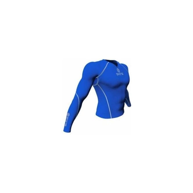 Skins Mens Long Sleeve Top Royal Blue