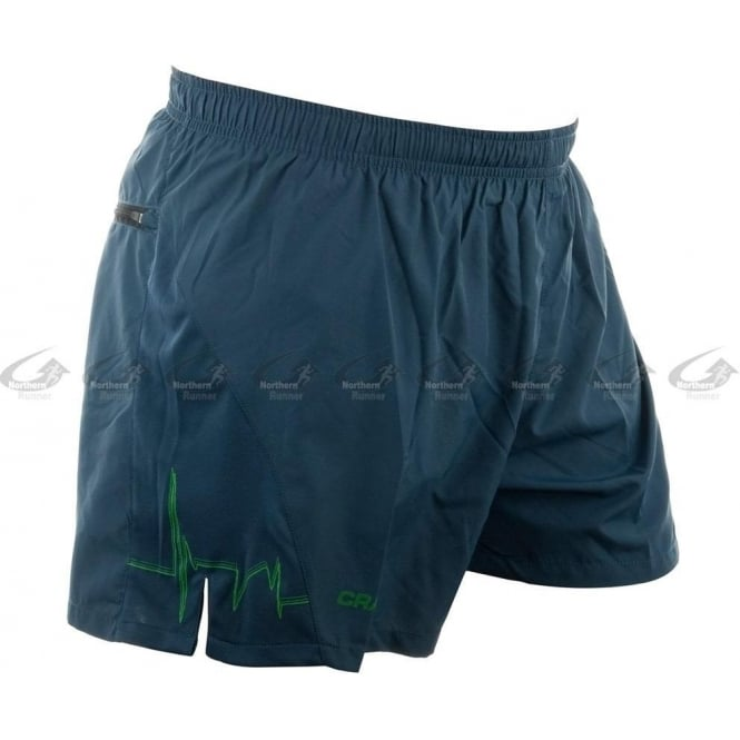 Craft Performance Run Shorts Mens Blue/Green