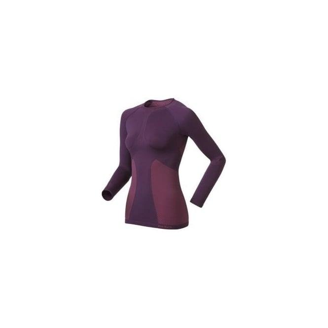 Odlo Evolution Warm Quality Long Sleeve Base Layer Purple Women's
