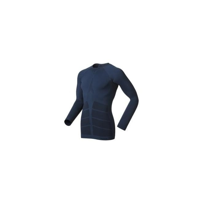 Odlo Evolution Warm Quality Long Sleeve Base Layer Blue Mens