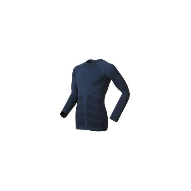 Odlo Evolution Warm Quality Long Sleeve Base Layer Blue Mens