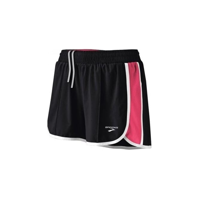 Brooks Epiphany Stretch Running Short II Black/Rouge Women's