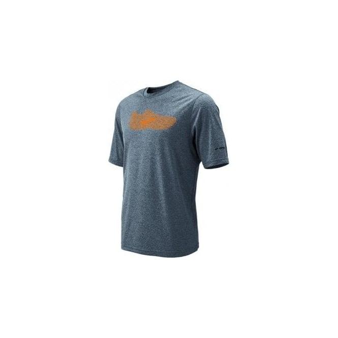 ez running t shirt inspire heather grey mens at