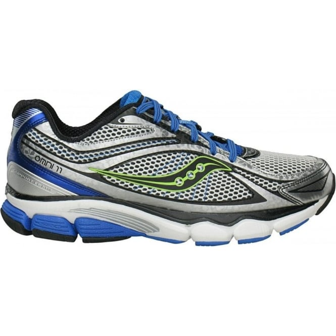 Saucony ProGrid Omni 11 Road Running Shoes White/Blue/Citron Mens
