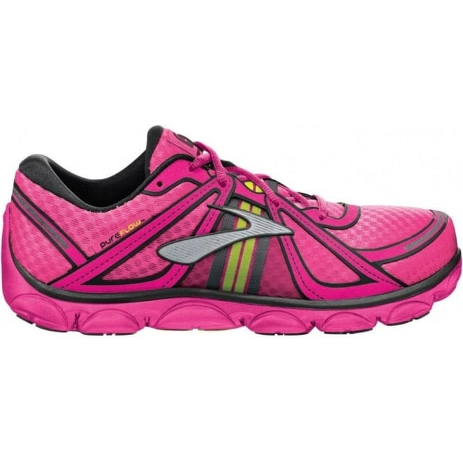 Brooks Pure Flow Minimalist Road Running Shoes KnockoutPink/Pinkglo/Black Kids