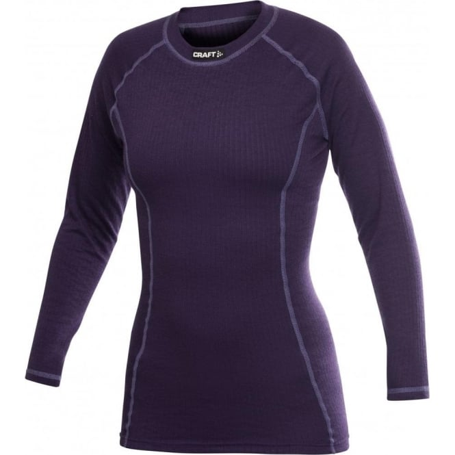 Craft Active Crewneck Long Sleeve Base Layer Blackberry/Contrast Women's