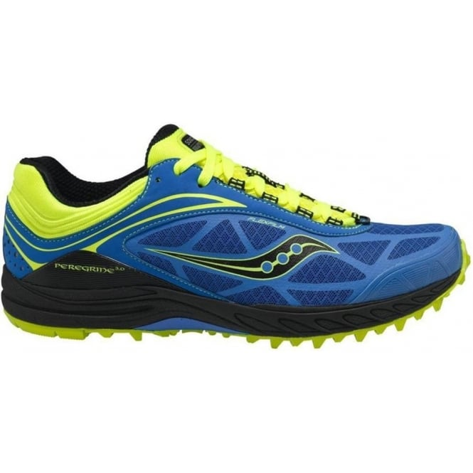 Saucony ProGrid Peregrine 3 Minimalist Trail Running Shoes Blue/Citron Mens