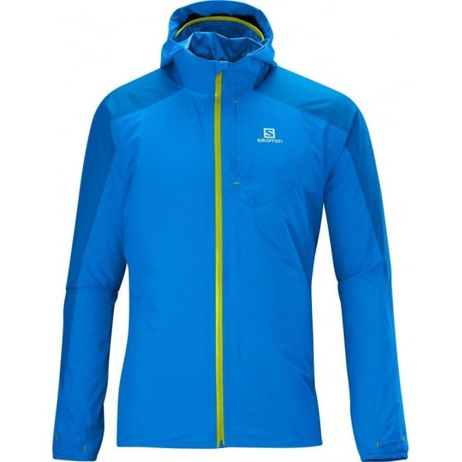 Salomon Bonatti Waterproof Running Jacket Blue Mens