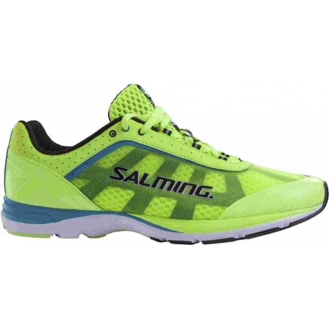 Salming Distance Road Running Shoe Yellow Mens