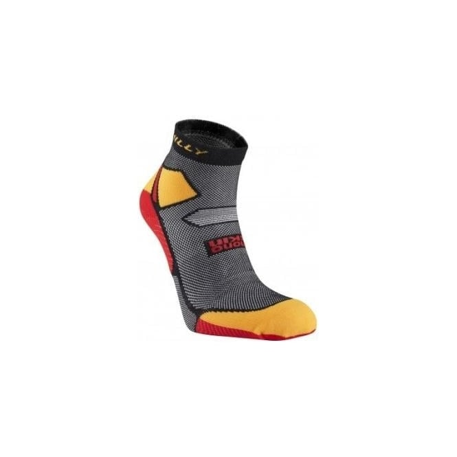 Hilly Skyline Anklet Running Socks Black/Yellow/Red