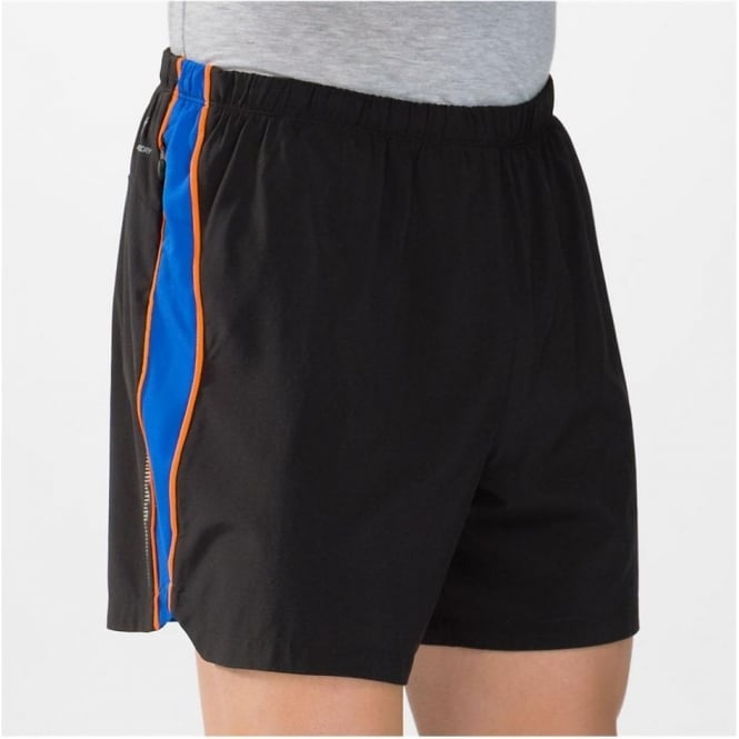 5 Inch Track Short Black/CobaltBlue/Orange Mens