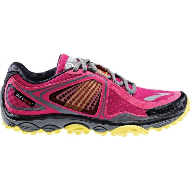 Pure Grit 3 Trail Running Shoes Sangria/CherryTomato/Buttercup Womens
