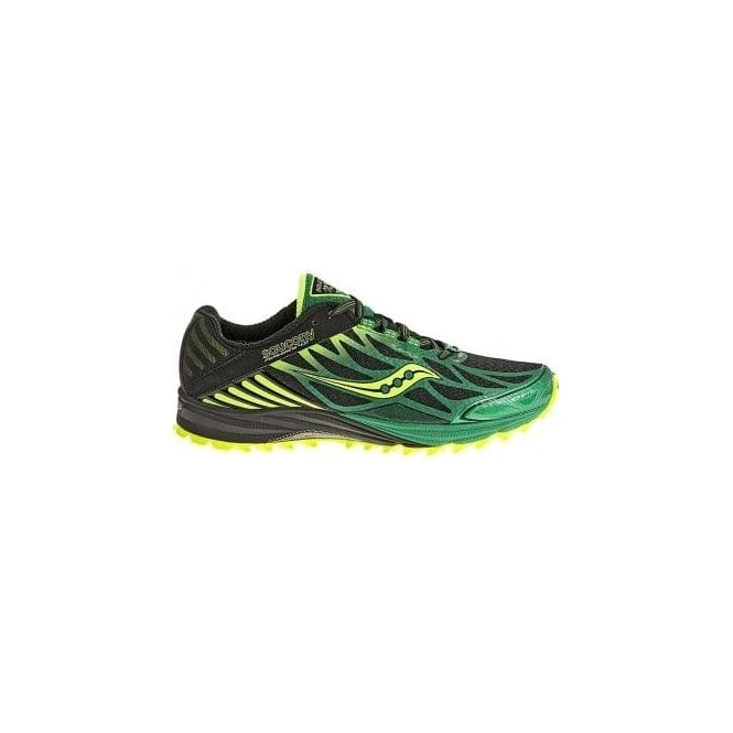 Peregrine 4 Trail Running Shoes Black/Green/Citron Mens