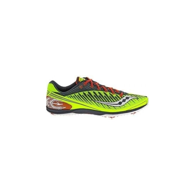Saucony Kilkenny XC5 Cross Country Spikes Citron/Navy/Red Mens