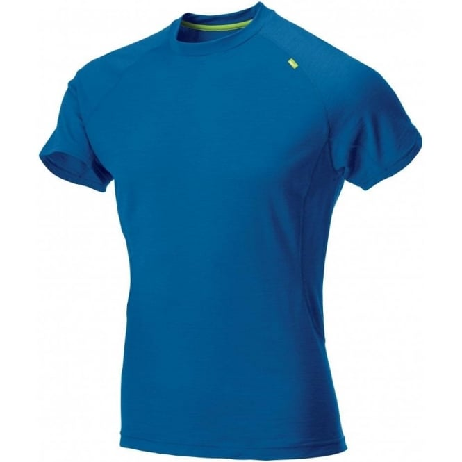 Inov8 Base Elite 115 Short Sleeve Base Layer Blue/Lime Mens