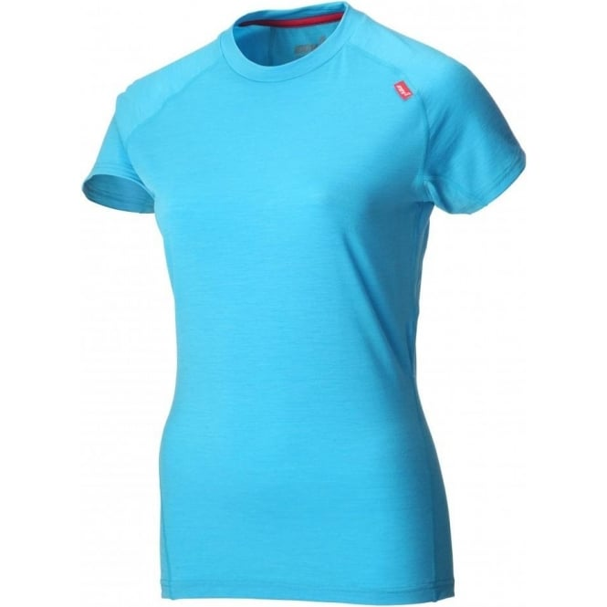 Inov8 Base Elite 95 Short Sleeve Merino Base Layer Turquoise/Barberry Womens