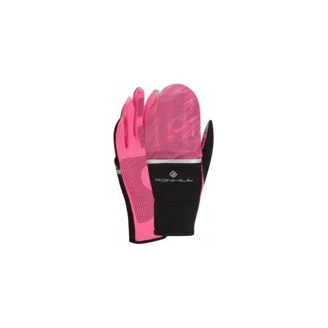 Ronhill Switch Running Glove Black/Fluo Pink