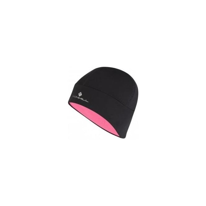 Ronhill Pro Beanie Black/Fluo Pink