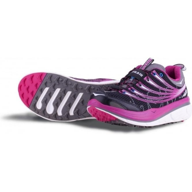 Hoka Kailua Trail Running Shoes Black/Pink/Grey Womens