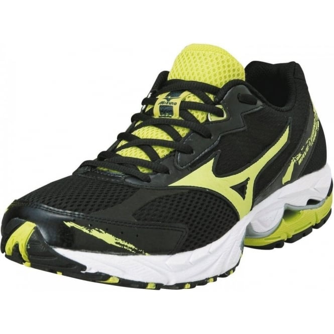 finest selection 3682f 9a912 mizuno wave legend 2 road running shoes black lime mens