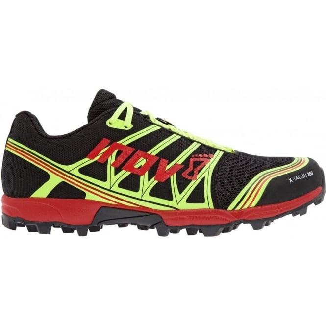 Inov8 X-Talon 200 UNISEX STANDARD FIT Trail Running Shoe Black/Red/Yellow