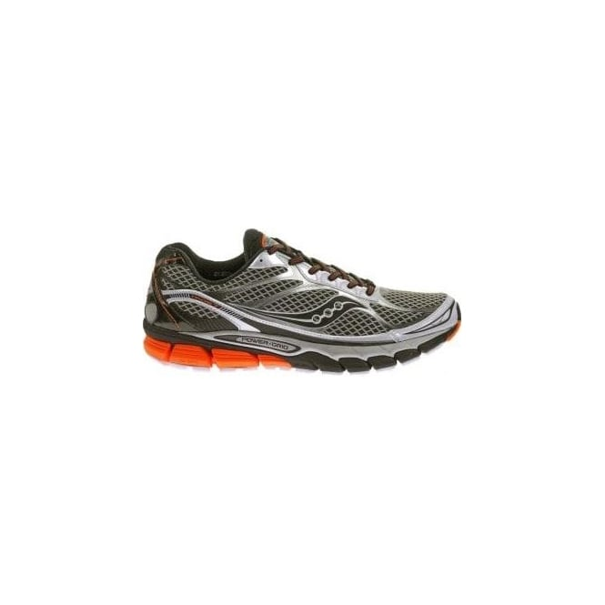 Saucony Ride 7 Road Running Shoes White/Black/Orange Mens