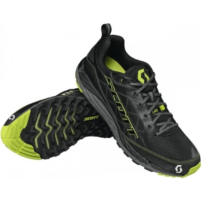 T2 Kinabalu 3.0 Trail Running Shoes Black/Green Mens