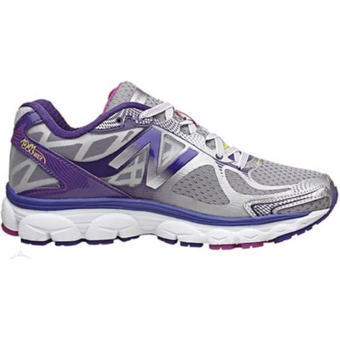 1080 V5 Road Running Shoes Silver/Purple (B WIDTH - STANDARD) Womens