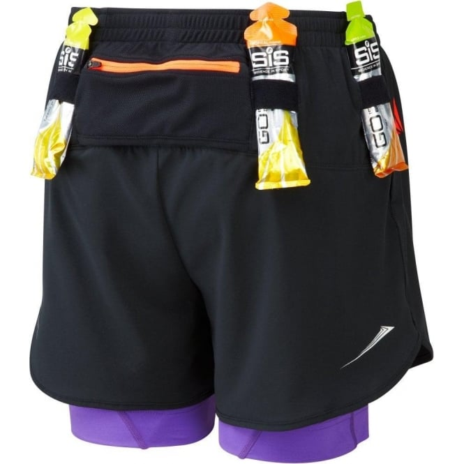 Trail Fuel Twin Short Black/Royal Purple Womens