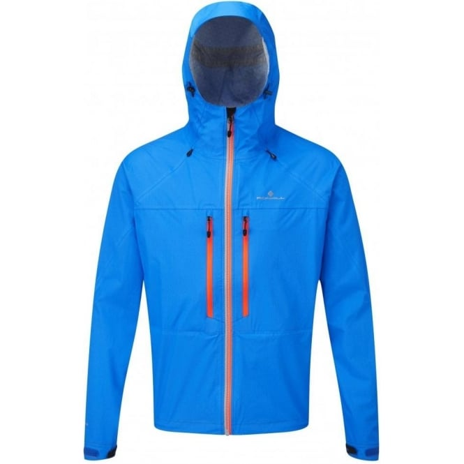 Ronhill Trail Tempest Waterproof Running Jacket Electric Blue/Orange Mens