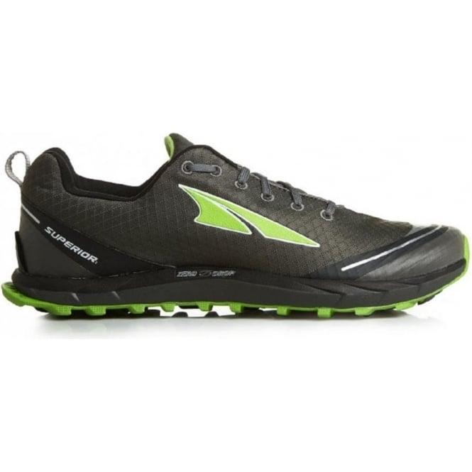 Altra Superior 2.0 Zero Drop Running Shoes Grey/Green Mens