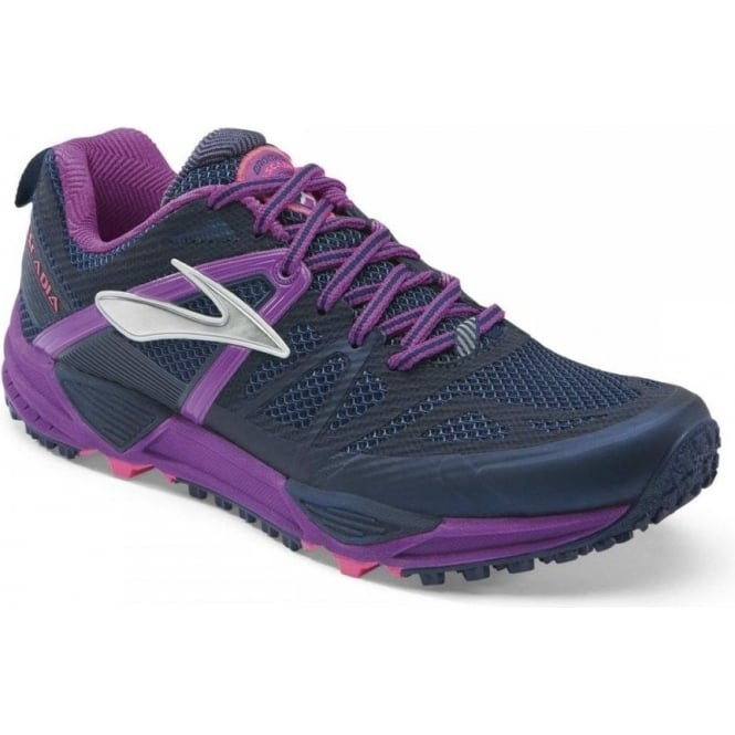 Brooks Cascadia 10 Trail Running Shoes Midnight/PurpleCactusFlower (B WIDTH - STANDARD) Womens