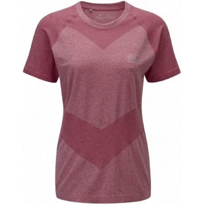 Aspiration Cool-Knit Short Sleeve Tee Cerise Womens