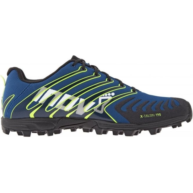 Inov8 X-Talon 190 Fell and Cross Country Running Shoes Blue/Black/Yellow
