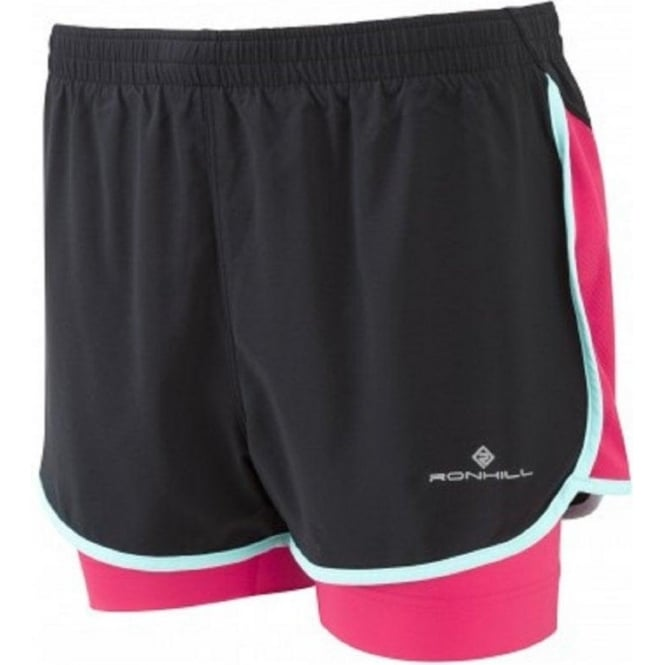 Aspiration Twin Short Black/Cerise Womens