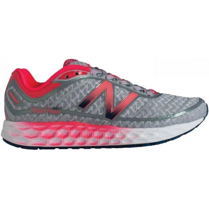 New Balance 980 Fresh Foam V2 Road Running Shoes Silver/Pink (B WIDTH) Womens