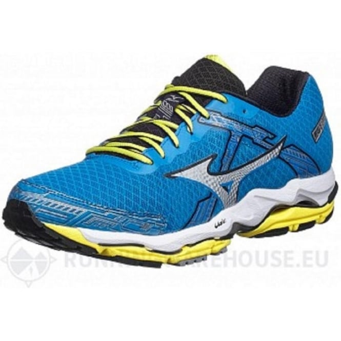 Wave Enigma 4 Running Shoes Blue/Silver/Green Mens