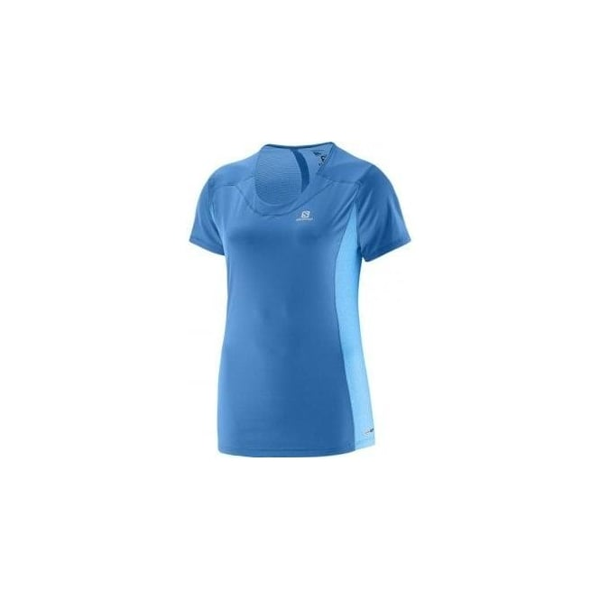 Salomon Agile Short Sleeve Tee Blue Womens