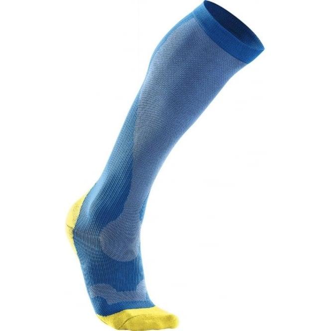 2XU Compression Performance Run Socks Blue Mens