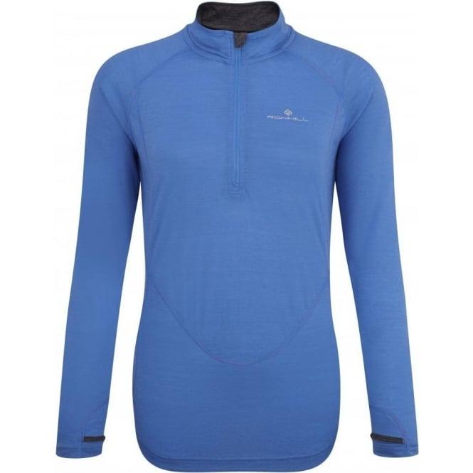 Ronhill Merino Long Sleeve Tee Blue Womens