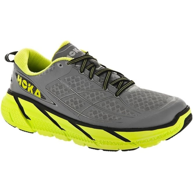 Hoka Clifton 2 Grey/Acid Mens