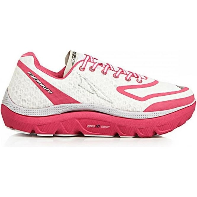 Paradigm White/Pink Womens Zero Drop Road Running Shoes