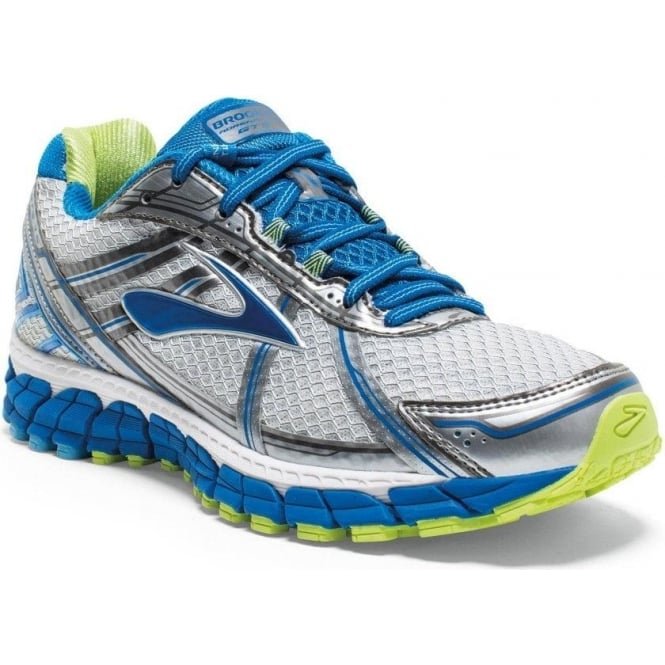 Brooks Adrenaline GTS 15 White/Blue/Green (D WIDTH - WIDE) Womens