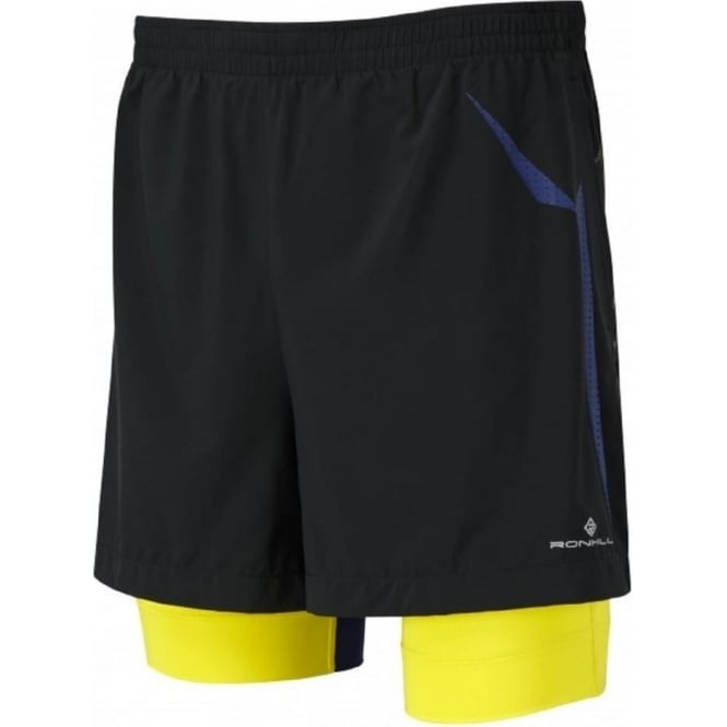 Ronhill Trail Fuel Twin Short Black/Sun Mens