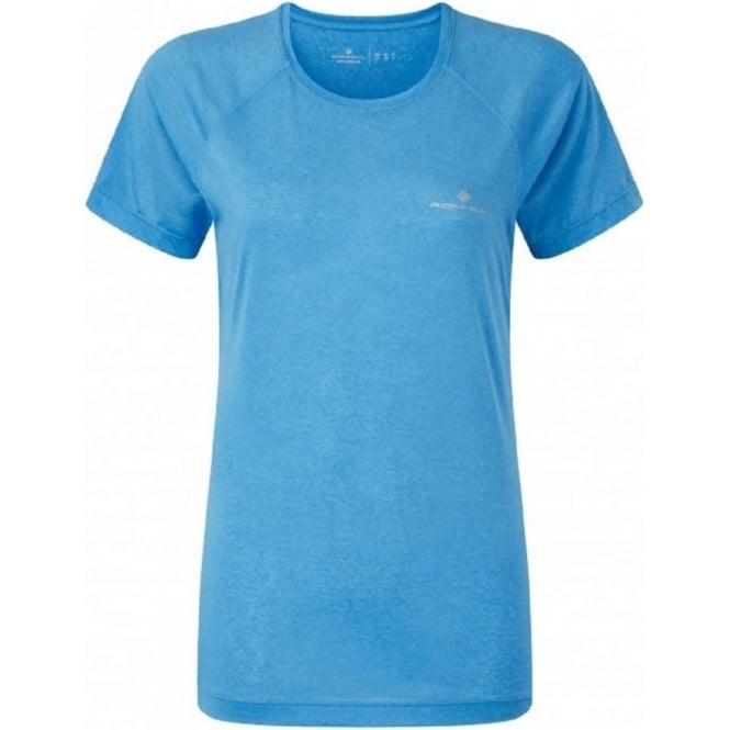 Aspiration Motion Short Sleeve Tee Sky Blue Womens