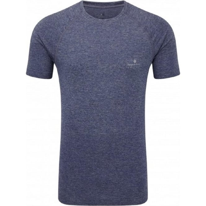 Advance Cool Knit Short Sleeve Tee Midnight Blue Mens