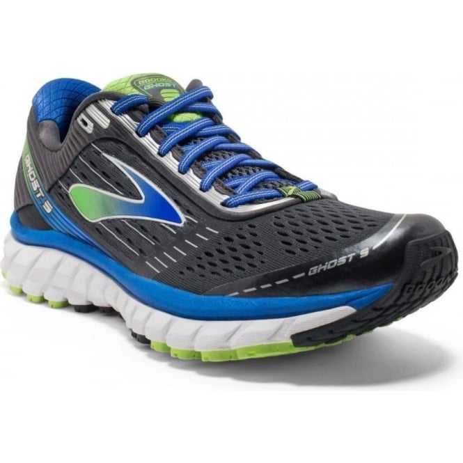 Brooks Ghost 9 Anthracite/Blue D Width Mens