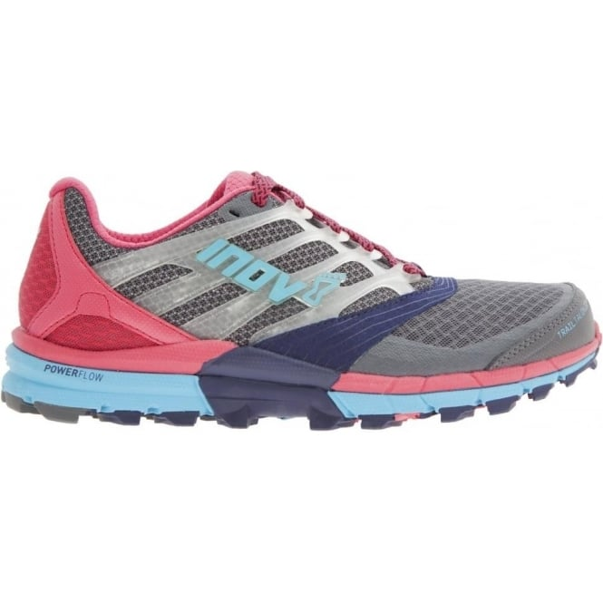 Inov8 TrailTalon 275 Womens STANDARD FIT Trail Running Shoes Grey/Blue/Pink