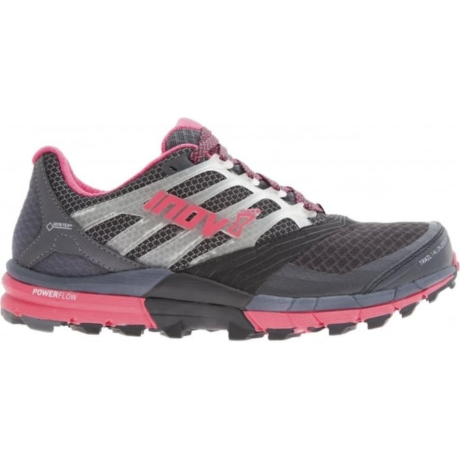 Inov8 TrailTalon 275 GTX Womens STANDARD FIT Trail Running Shoes Grey/Pink
